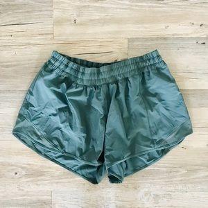 Moss Green LuluLemon Running Shorts - Never worn!
